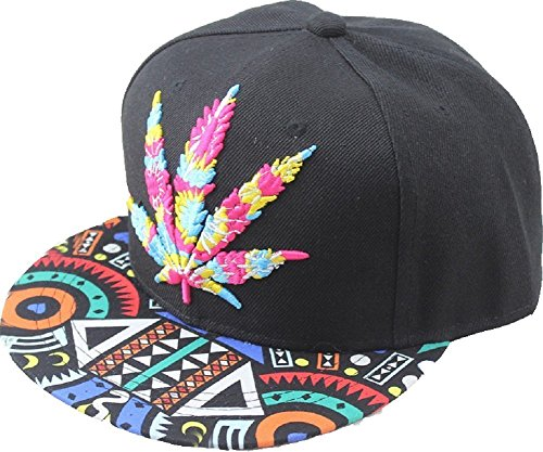 YOXO-Hip-Pop-Marijuana-Weed-Green-Snapback-Cap-Hat-Men-Baseball-Cap-0