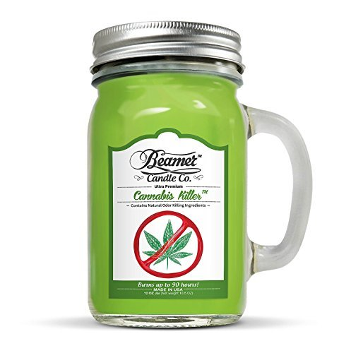 12oz-Cannabis-Killer-Removes-Weed-Smell-Scented-Beamer-Candle-Co-Ultra-Premium-Jar-Candle-90-Hr-Burn-Time-USA-Made-0